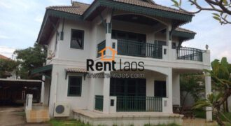 Lao Modern style cozy house for rent Near Sengdara fitness,Thai consulate,Patuxay