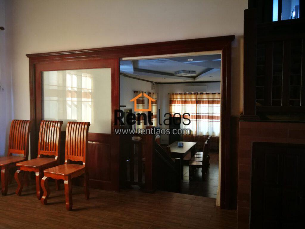 Vientiane modern style house for rent Near Sengdara fitness,Thai consulate,Patuxay