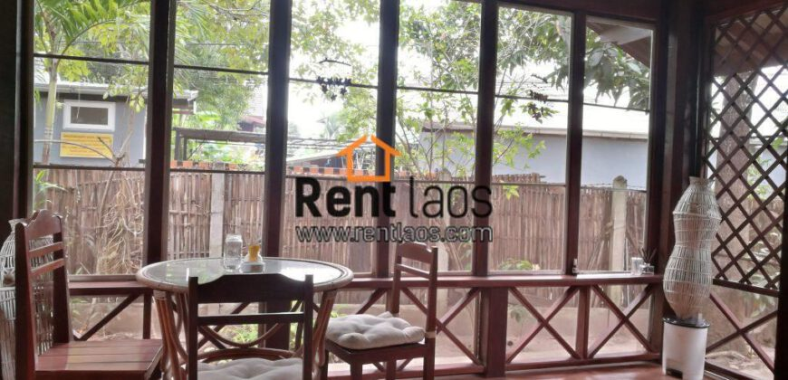 Lao style cozy house for rent Near Sengdara fitness,Thai consulate,Patuxay