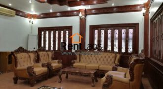 Modern house with fully furnished for rent in Lao and International Schools Zone, near Saphanthong market, about 3Km from Patuxay.