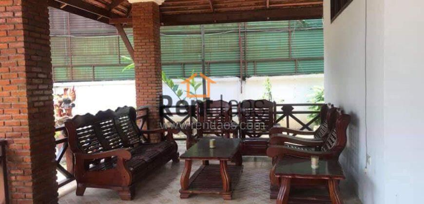 Lao style cozy house with big garden space for rent Near Chinese embassy,korea embassy,GIZ office ,Kiettisak international school,VIS.