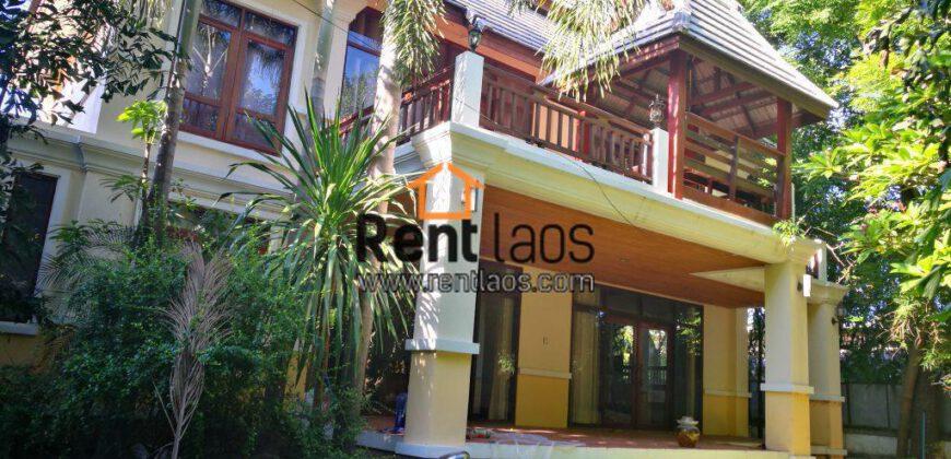 Lao Modern style house Near Kettisak International school,Chinese embassy for RENT
