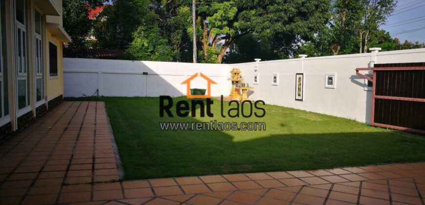 Beautiful house with Lovely garden Near,Japan embassy , Thatluang square for RENT