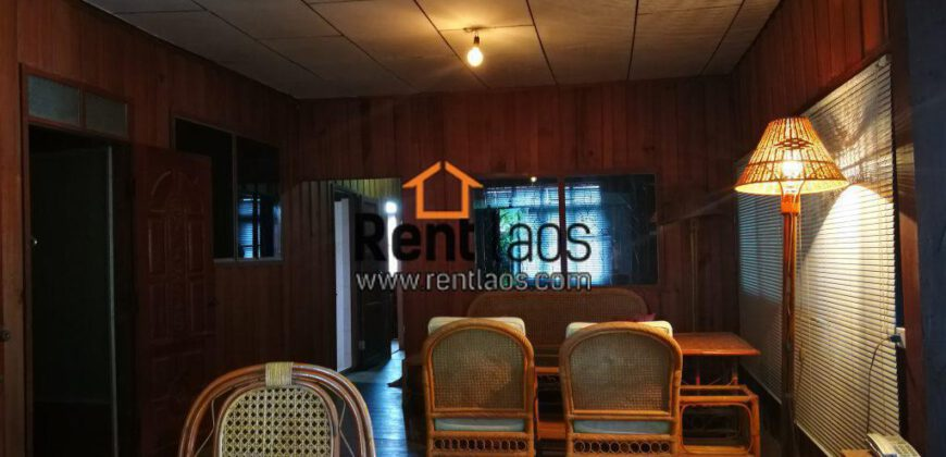River front  Lao style wooden house Near Clock Tower For Rent