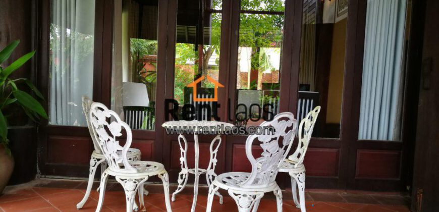Lao style house with swimming pools near China embassy for RENT