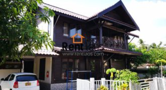 compound Lao style wooden house for RENT near Australia embassy