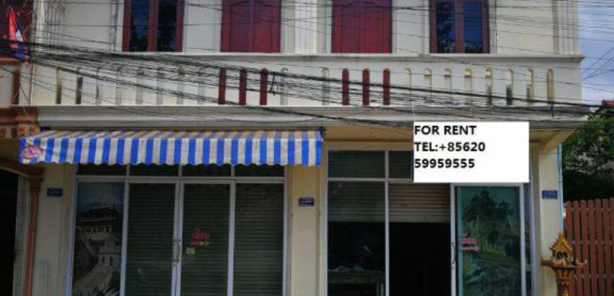Shop house near Lao Plaza FOR RENT