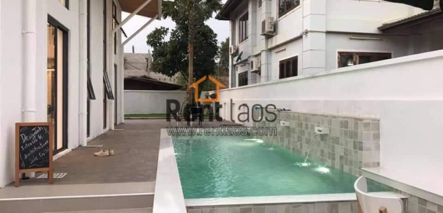 Modern pool house for rent