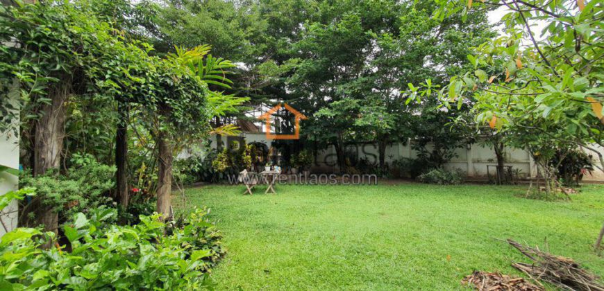 Lao style wooden house for rent near Australia embassy